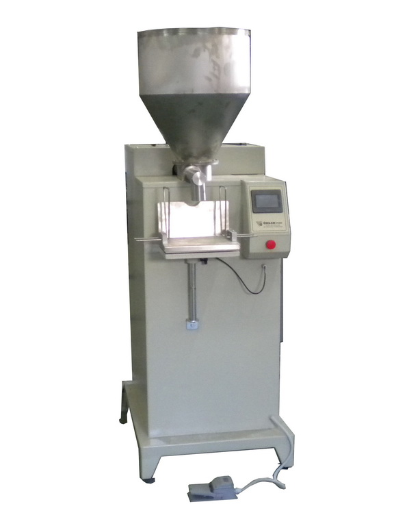 PAPE-100 (PAPE-500)SEMI-AUTOMATIC MACNINE FOR PACKAGING POWDERS FROM 50 TO 500 GRAMS (FROM 500 TO 5000 GRAMS)